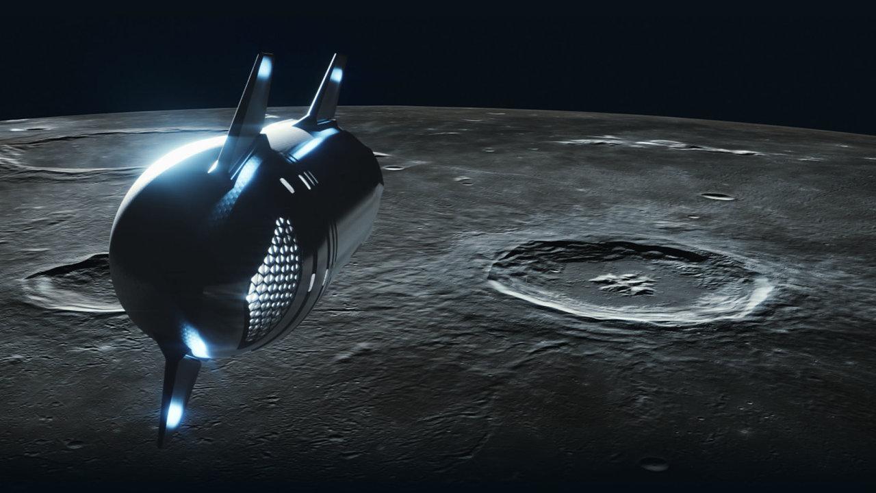 V nové lodi Starlink společnosti SpaceX by podle plánů Elona Muska mohlo k Měsíci letět až 100 pasažérů.