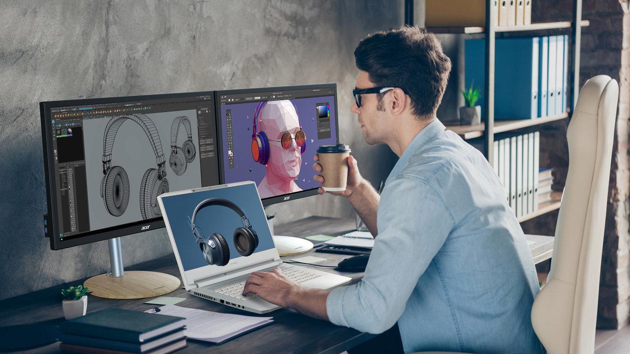 Pracovní stanice ConceptD má vytvořit 3D obraz před displejem