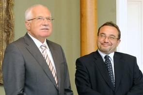 Prezident Václav Klaus a ministr školství Josef Dobeš