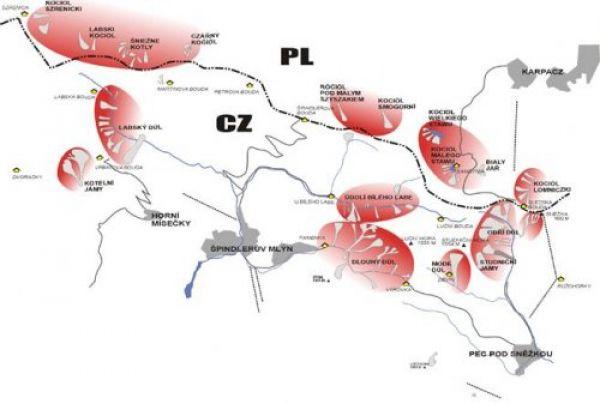 Mapa lavinového nebezpečí