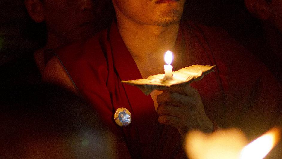 Tibetský mnich - ilustrační foto