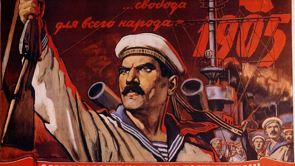 Sovětský propagandistický plakát z 20. let minulého století