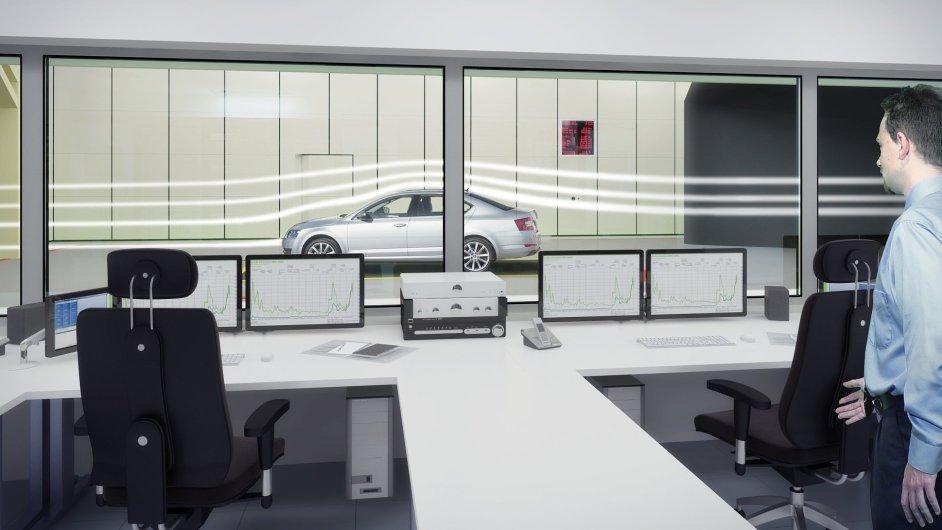 Vizualizace aerodynamického tunelu, který má vzniknout v Milovicích.