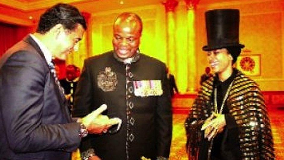 Zpěvačka Erykah Badu na oslavě krále Mswatiho III. ve Svazijsku