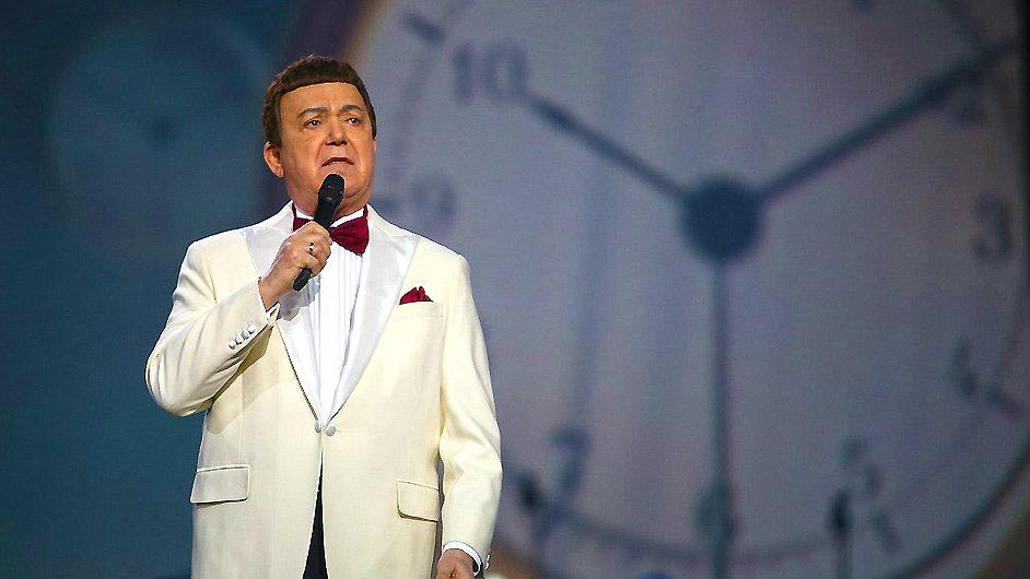 Josif Kobzon na březnovém koncertě v Kremlu.