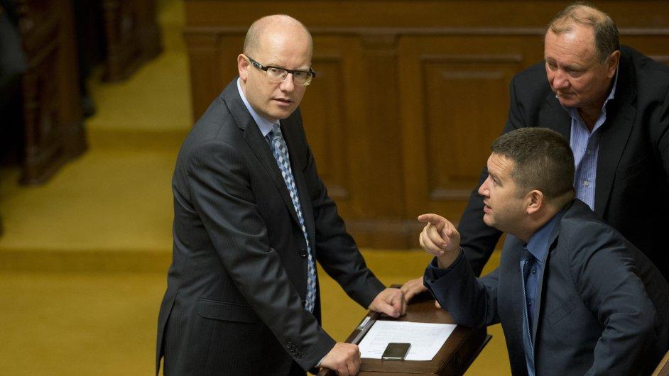Bohuslav Sobotka ve sněmovně