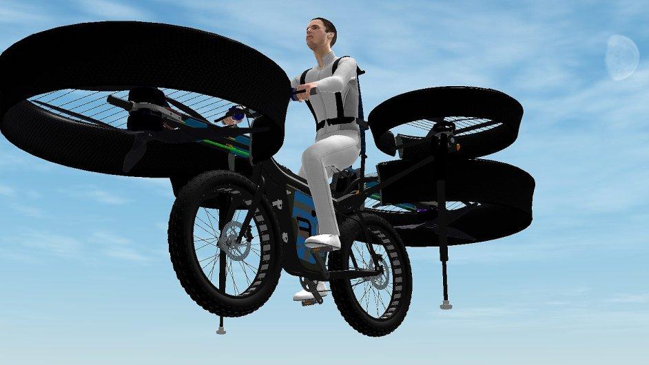 Česká firma vytvořila létající kolo.