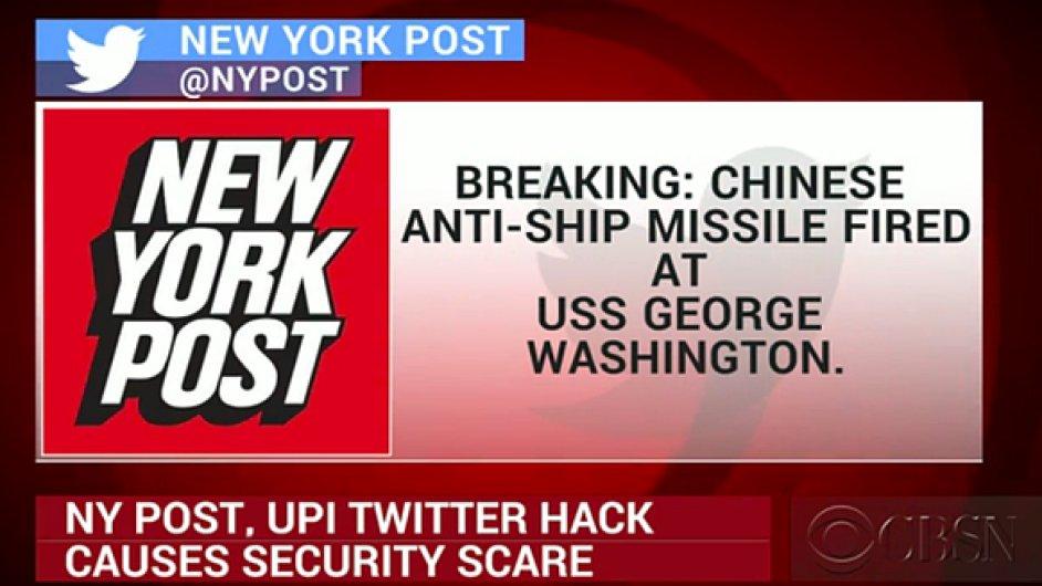 Americký křižník George Washington bojuje v jihočínském moři s čínskou armádou, hlásali hackeři