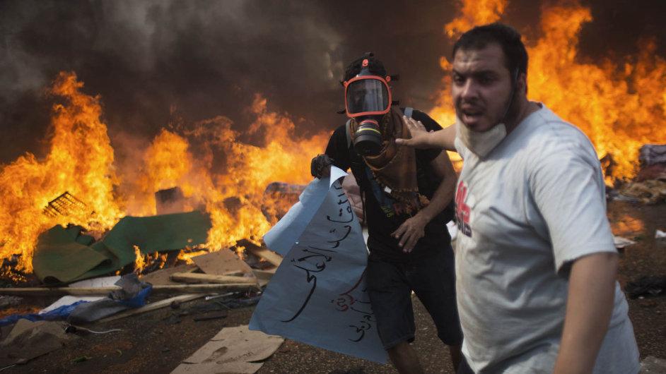 Egyptské protesty - Ilustrační foto.
