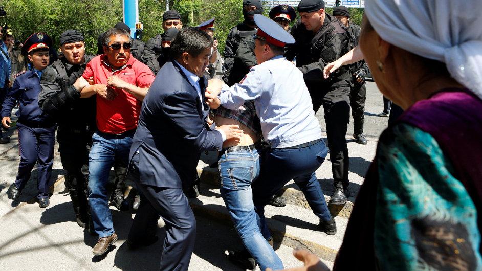 Kazachstán demonstrace