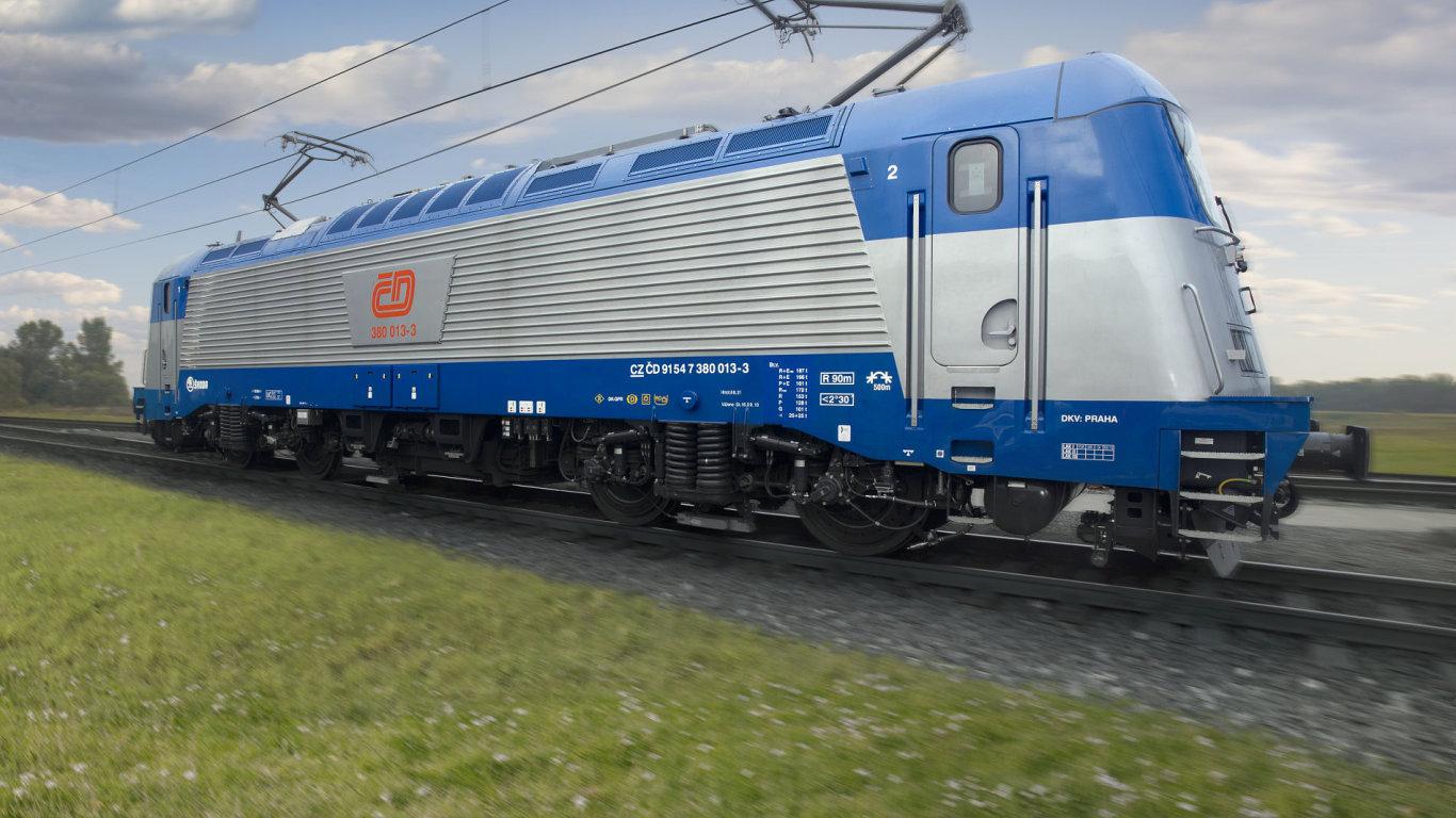Lokomotiva řady 380, kvůli které České dráhy vedou spor se Škodou Transportation.