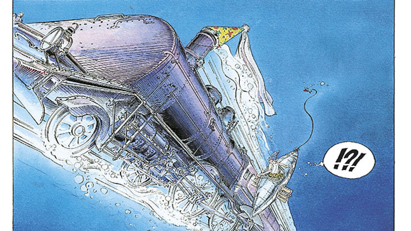 Ukázka z komiksu Dobrodružství Jeronýma Moucherota.