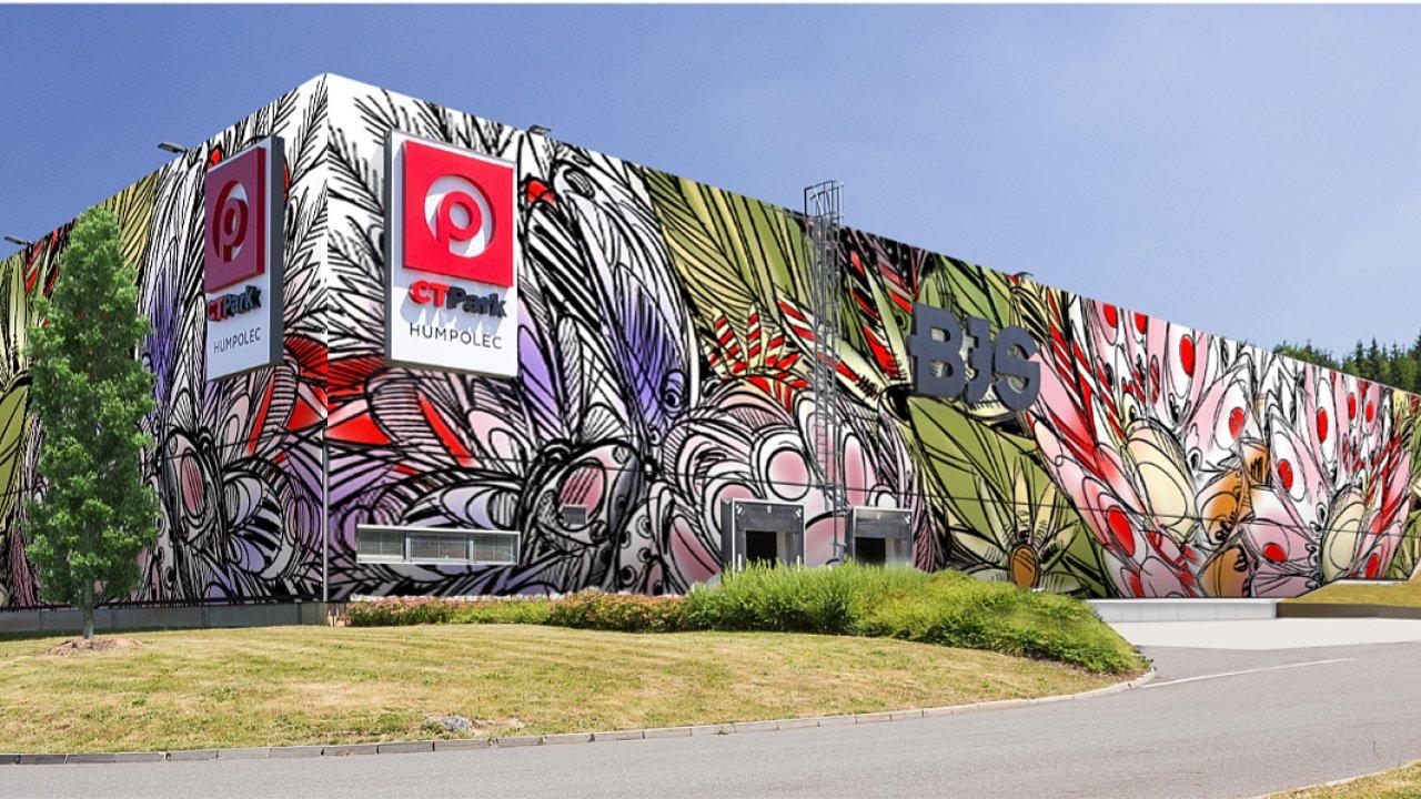 Vítězný návrh 1. ročníku mezinárodní soutěže CTP Art Wall, který ozdobí stěny CTParku v Humpolci.