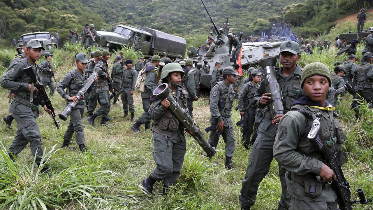 Cvičení venezuelské armády