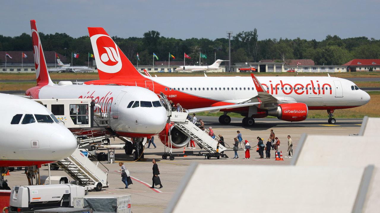 Většinu letadel má společnost Air Berlin v pronájmu - Ilustrační foto.