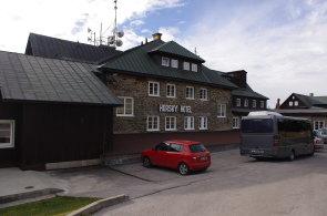 Hotel v Janských Lázních, který Praha 10 pořídila pro školy v přírodě. V současnosti je však kvůli bezpečnosti zavřený.