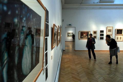 Snímek z výstavy Vlastislava Hofmana v Ostravě.