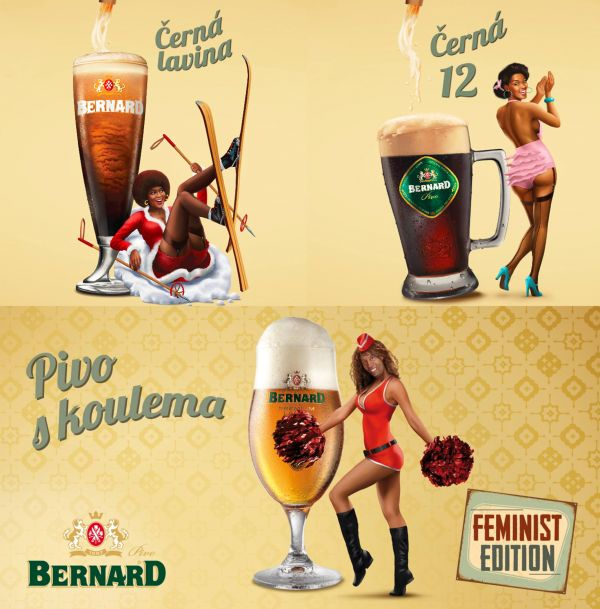 Reklama pivovaru Bernard.