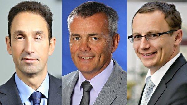 Franck du Plessix, Roman Pospíšil a Pavel Hoffman, skupina Amundi Czech Republic