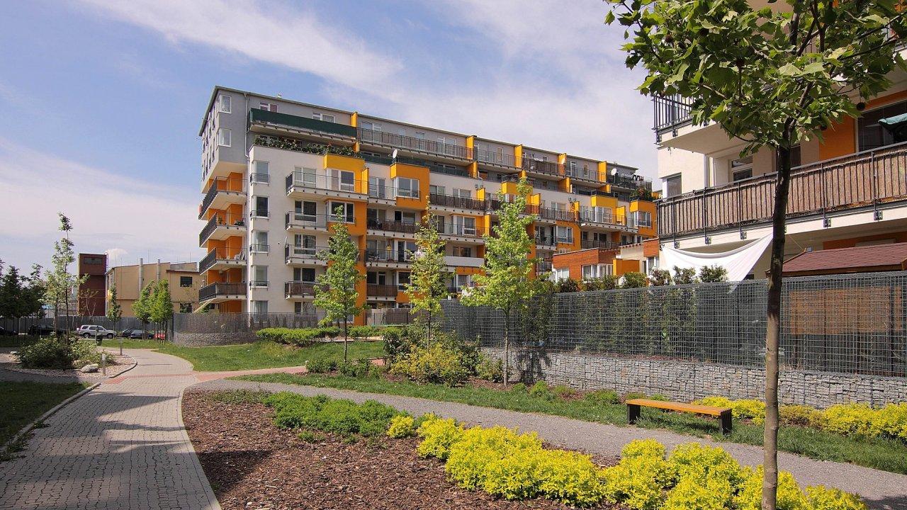 Nové bytové domy na Harfě