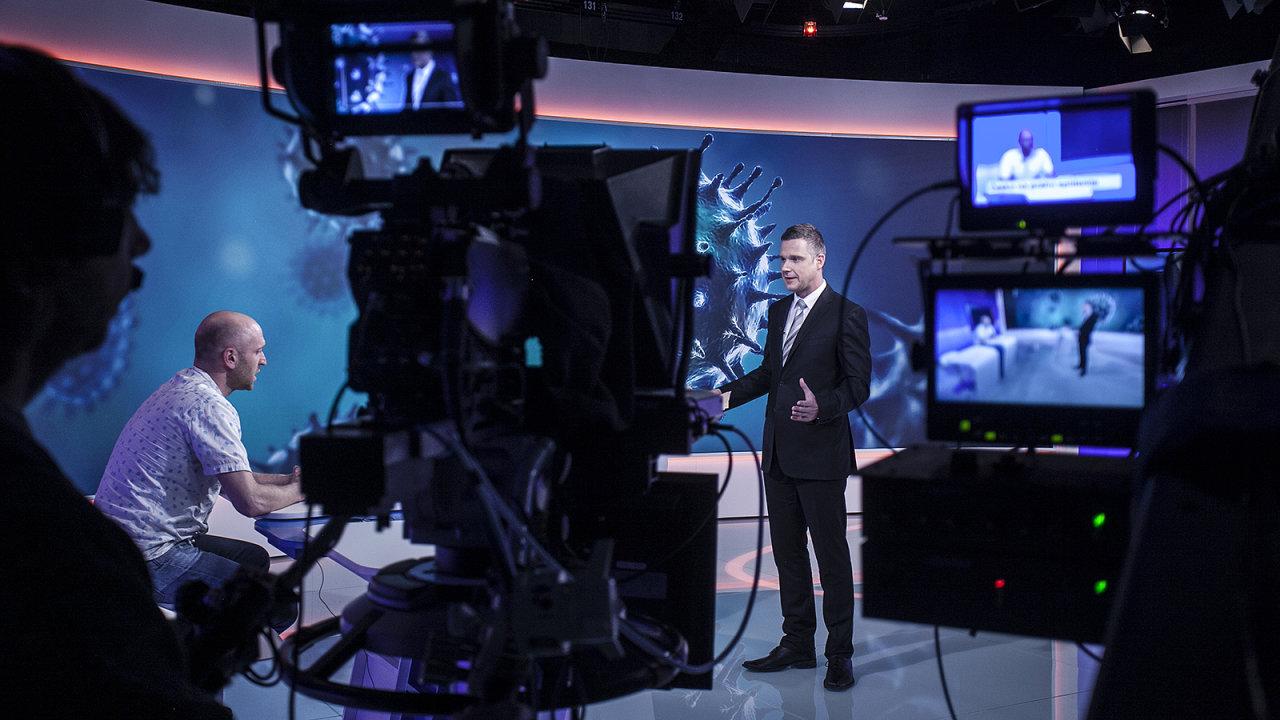 Vysílací studio České televize - Ilustrační foto.