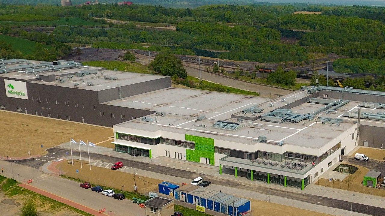 Pohled na havířovský závod švédského výrobce chirurgických produktů Mölnlycke, pro kterého Geis zajišťuje distribuční logistiku.