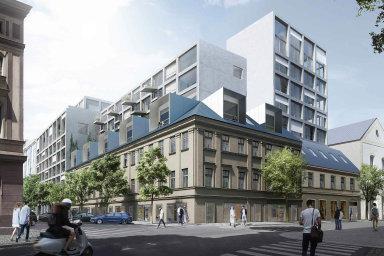 Tulipa Karlín. AFI Europe vKarlíně právě zahájila výstavbu svého prvního projektu nájemního bydlení. Investuje doněj miliardu adokončí jej nakonci příštího roku.