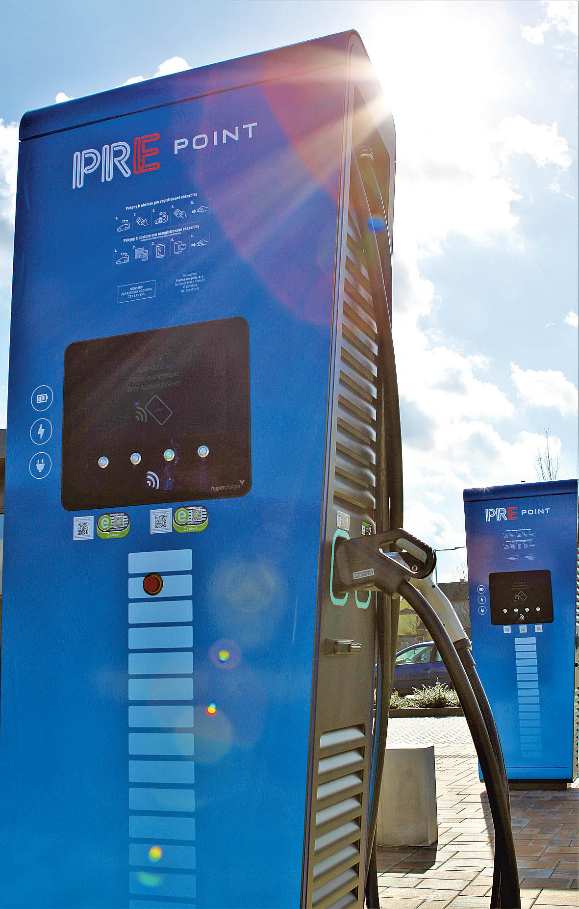 Spotřeba elektřiny naveřejných dobíjecích stanicích PREpoint vmeziročním srovnání vzrostla vetřetím čtvrtletí o139 procent.