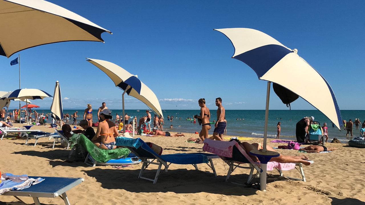 Bibione, pláž, moře, dovolená