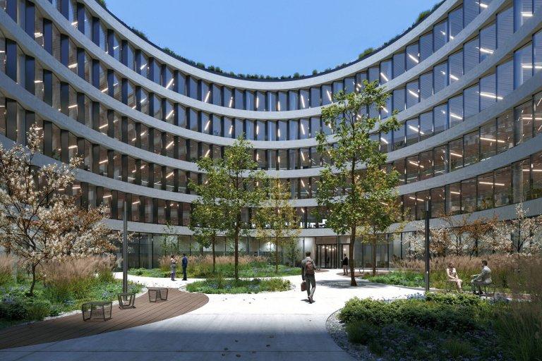 Přestože výstavba ještě nebyla zahájena, budova je již z více než poloviny pronajatá, majoritním uživatelem bude společnost TietoEVRY (vizualizace).