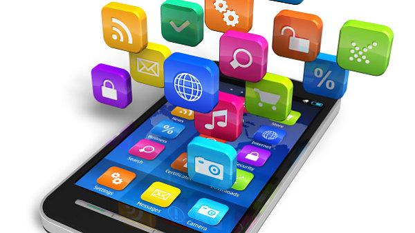 Aplikace pro smartphone. Ilustrační foto.
