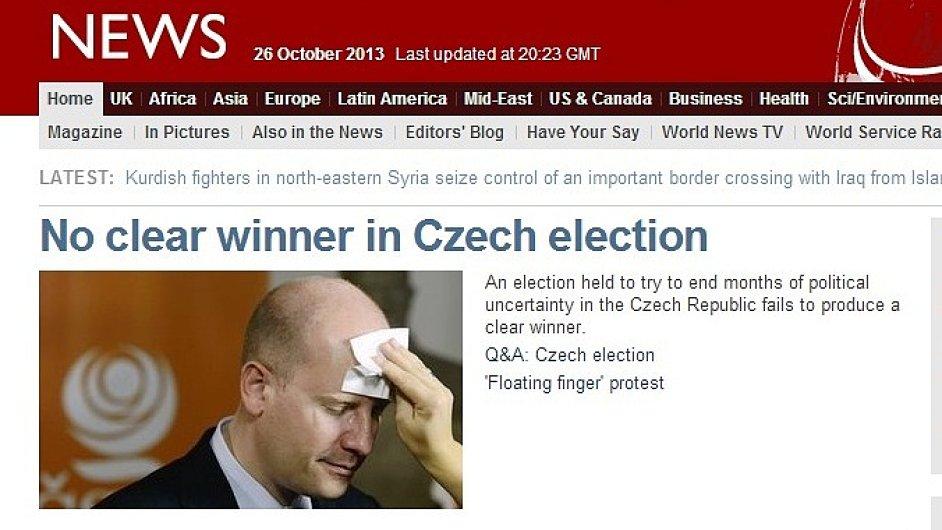 Šéf ČSSD Bohuslav Sobotka na BBC
