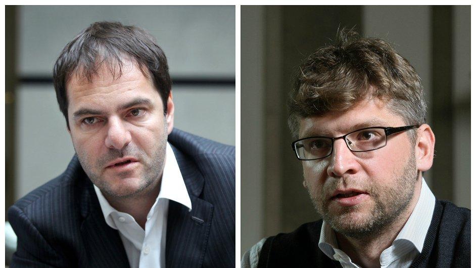 Na světové ekonomické fórum do Davosu letos pojede Jiří Šmejc (vlevo) a Martin Štefunko.