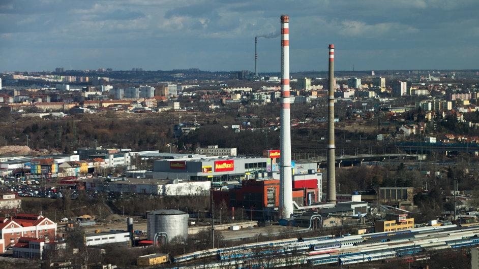 Plynárna Pražské plynárenské v Michli.