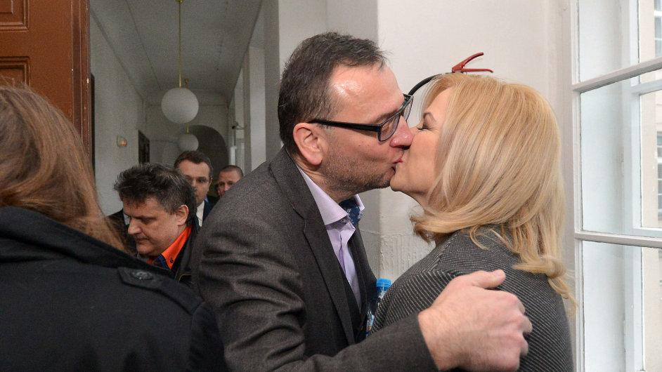 Jana Nečasová, dříve Nagyová, někdejší šéfka kabinetu expremiéra Petra Nečase a jeho nynější manželka u Obvodního soudu pro Prahu 1.