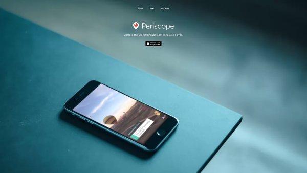 Aplikace Periscope na iPhonu