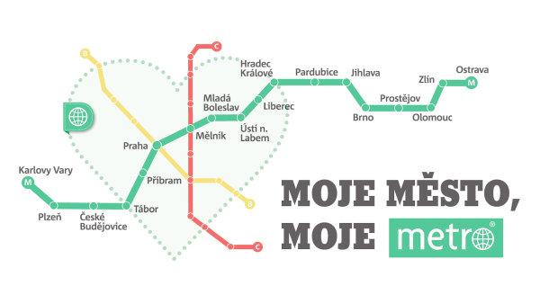 Kampani deníku Metro dominuje srdce a piktogram Metra