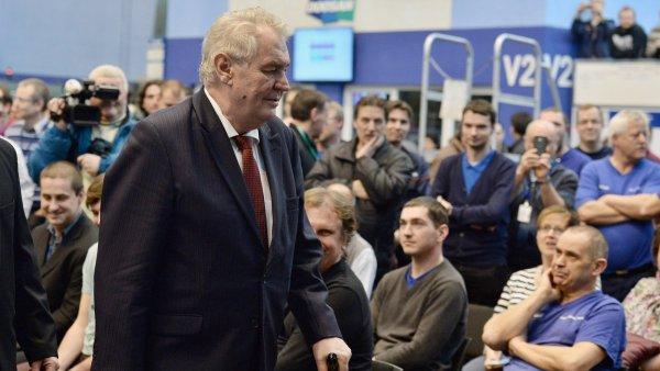 Miloš Zeman na návštěvě Plzeňského kraje.