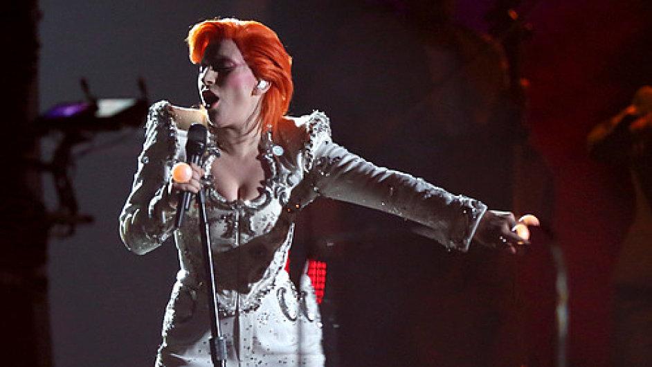 Lady Gaga na předávání cen Grammy.