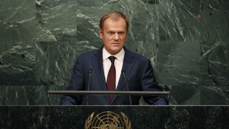 Běh na dlouhou trať. Předseda Evropské rady Donald Tusk zařadil na summit také diskusi o Sýrii.