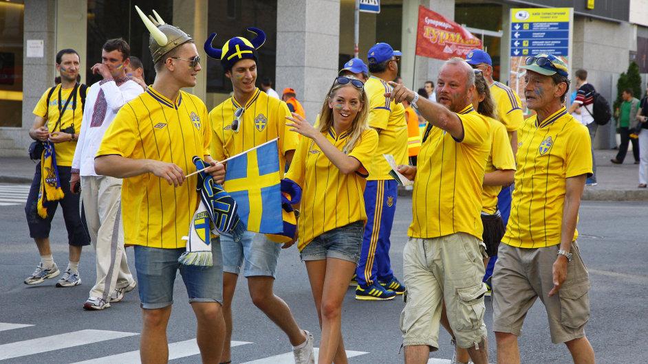Švédsko muži ženy fanoušci