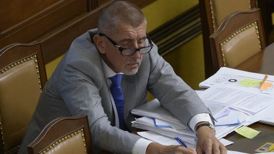 Ministr financí Andrej Babiš se zúčastnil 6. září v Praze jednání Poslanecké sněmovny.