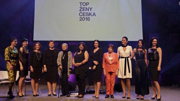 Vítězky ankety Hospodářských novin TOP ženy Česka 2016.