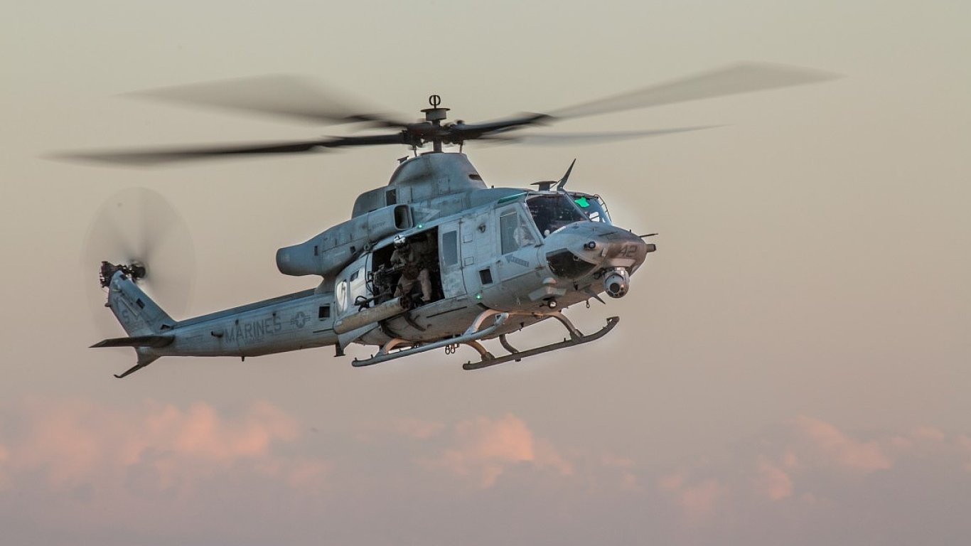 Víceúčelová helikoptéra UH-1Y Venom.
