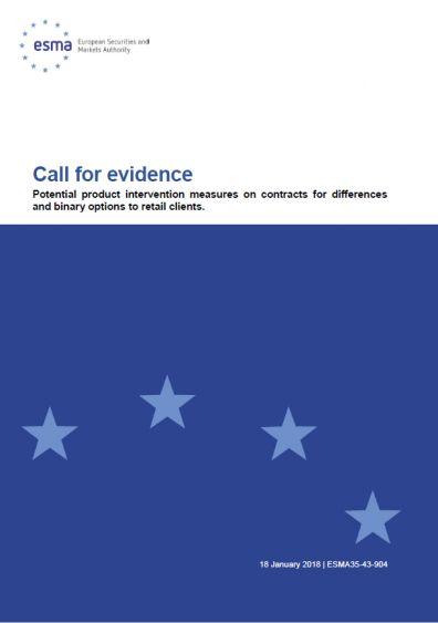 ESMA Call for evidence