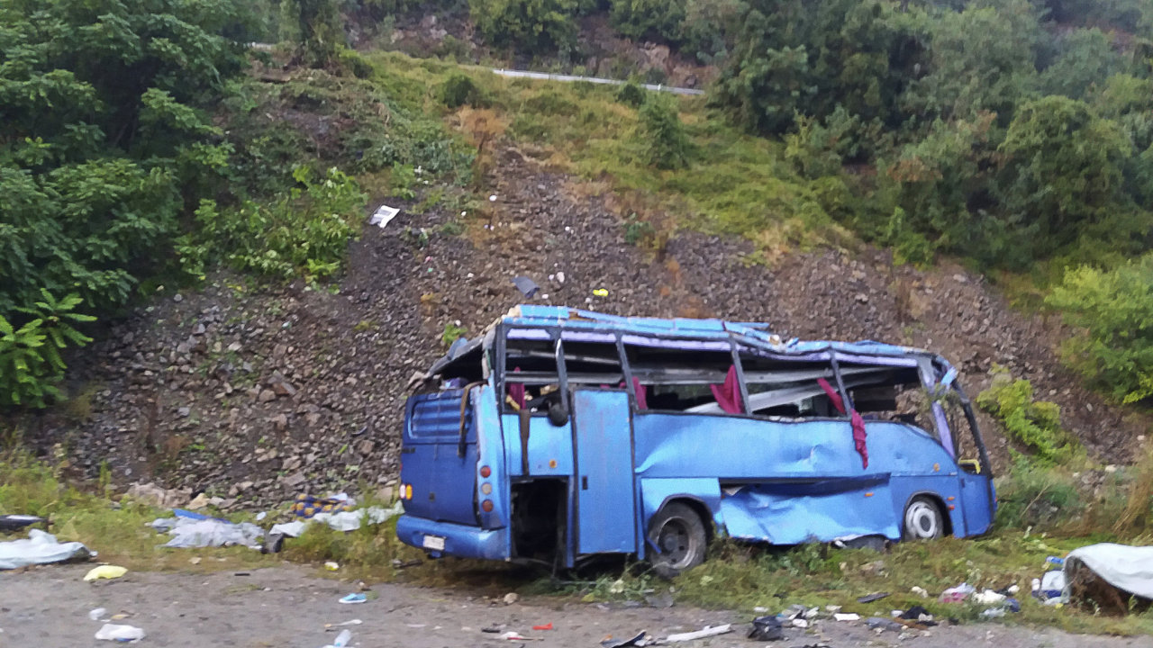 Autobus havaroval asi 40 kilometrů severně od Sofie.