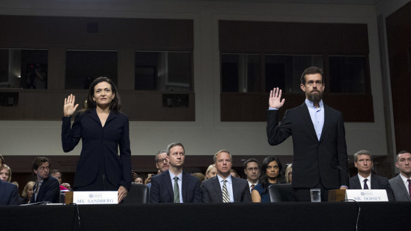 Facebook a Twitter hájily v Senátu postup proti manipulátorům.