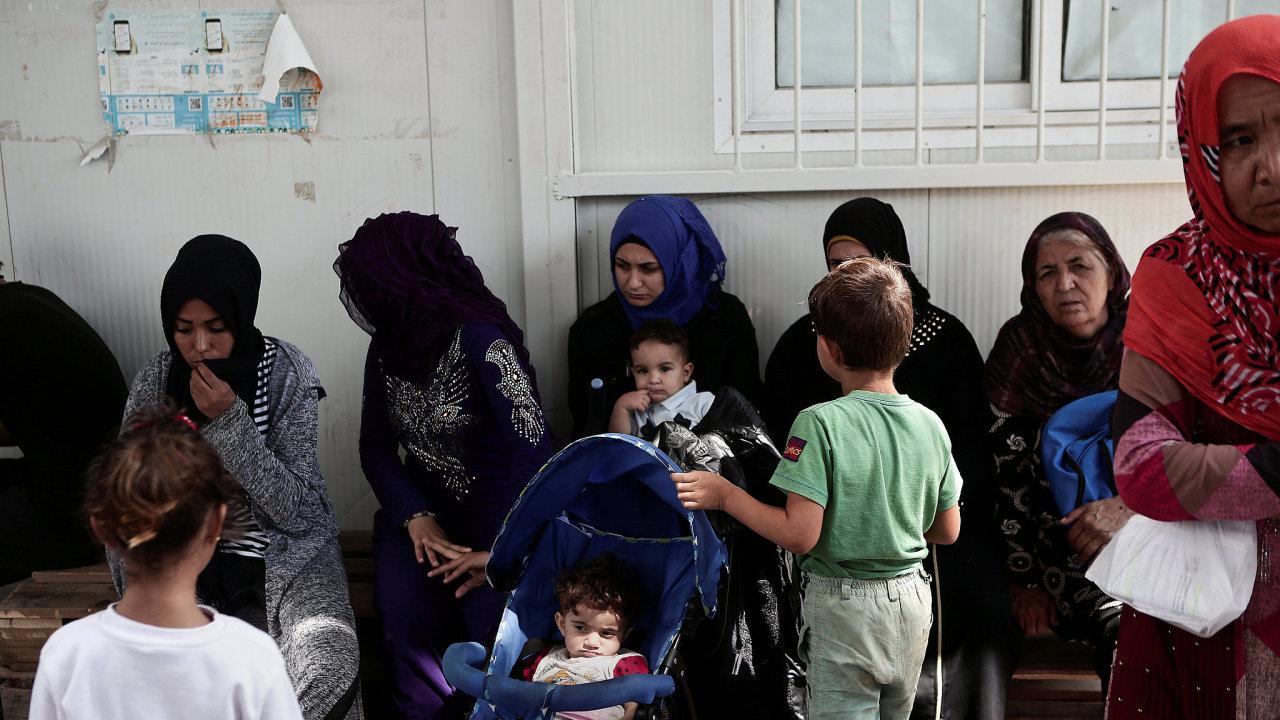 Uprchlický tábor na řeckém ostrově Lesbos.