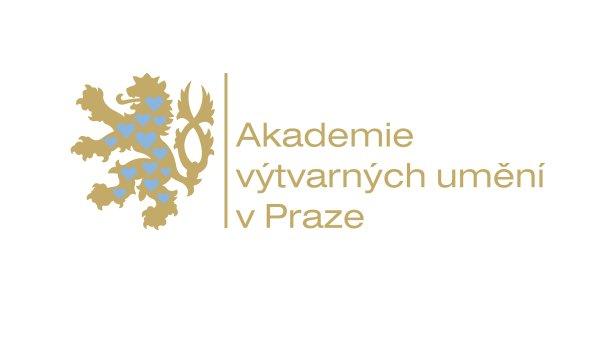 Logo Akademie výtvarných umění vytvořené v 90. letech Milanem Knížákem
