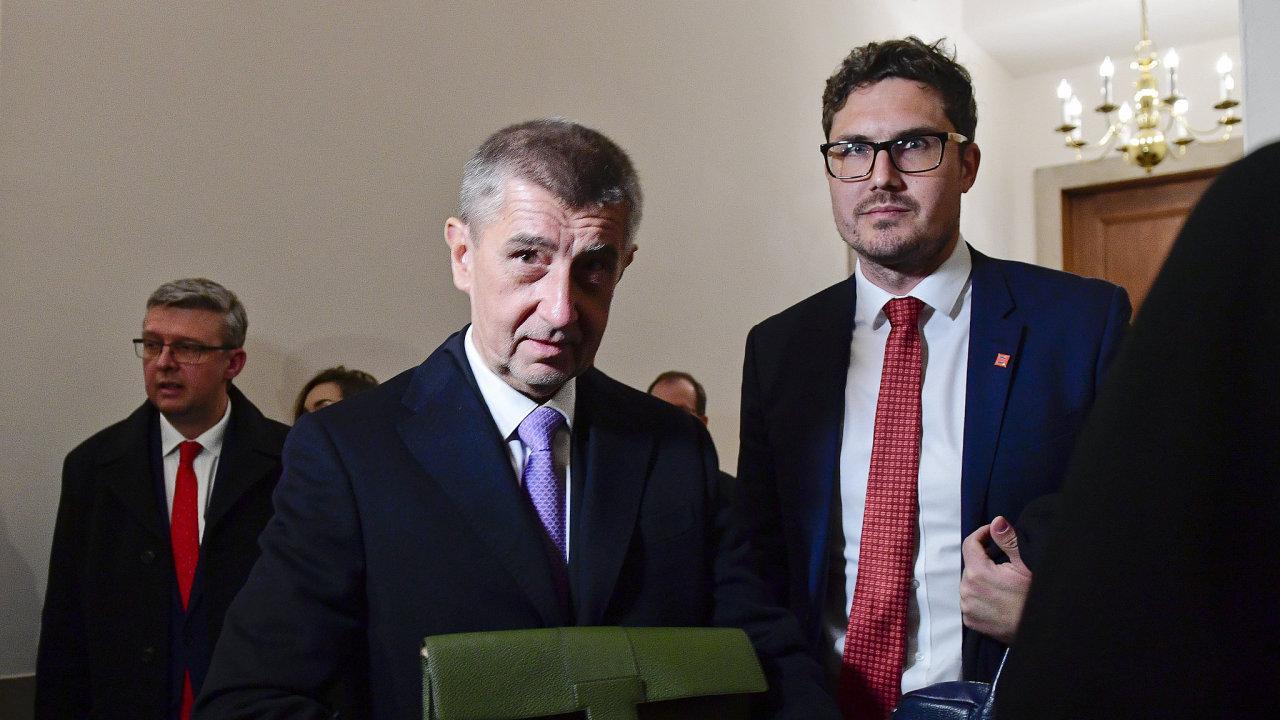 Český premiér Andrej Babiš po jednání s představiteli Americké obchodní komory ve Washingtonu.